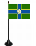 Yorkshire North Riding Desk / Table Flag with plastic stand and base